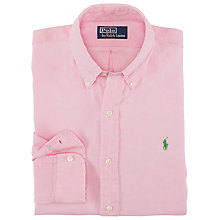 Buy Polo Ralph Lauren Solid Tone Linen Shirt Online at johnlewis.com