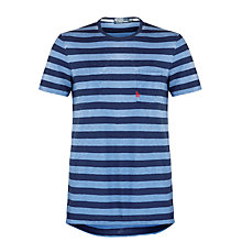 Buy Polo Ralph Lauren Stripe Short Sleeve T-Shirt, Blue Online at johnlewis.com