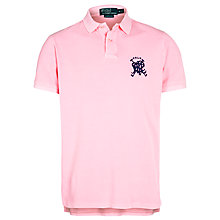 Buy Polo Ralph Lauren Custom Fit Cross Mallet Polo Shirt, Electric Pink Online at johnlewis.com