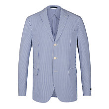 Buy Polo Ralph Lauren Seersucker Gilford Sport Coat, Blue/White Online at johnlewis.com