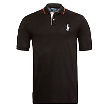 Buy Polo Golf by Ralph Lauren Pro-Fit Tournament Pony Polo Shirt, Black Online at johnlewis.com