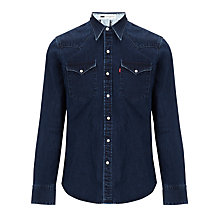 Buy Levi's Archive Print Lining Denim Shirt, Denim Blue Online at johnlewis.com