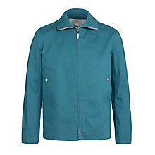 Buy Hancock Vulcanised Rubber Coated Cotton Blouson, Aqua Online at johnlewis.com