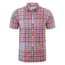 Buy Hilfiger Denim Lugano Short Sleeve Check Shirt, Red/Multi Online at johnlewis.com