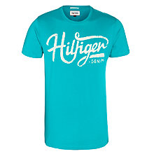 Buy Hilfiger Denim Federer Printed T-Shirt, Lapis Online at johnlewis.com