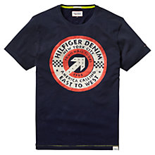 Buy Hilfiger Denim Cotton T-Shirt, Peacoat Online at johnlewis.com