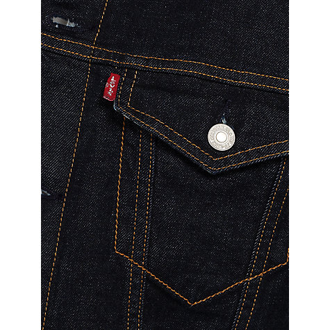 Buy Levi's Trucker Archive Print Lining Denim Jacket, Denim Blue Online at johnlewis.com