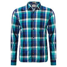 Buy Hilfiger Denim Lynden Check Shirt, Peacoat Online at johnlewis.com