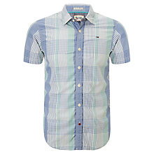 Buy Hilfiger Denim Lawrence Short Sleeve Check Shirt, Blue/Green Online at johnlewis.com