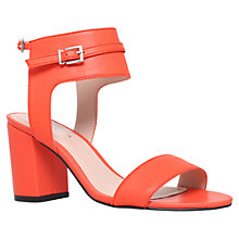Buy Carvela Kindly Leather Sandals, Orange Online at johnlewis.com