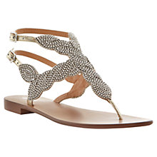 Buy Dune Karper Metal Stud Double Buckle T-Bar Leather Throng Sandals Online at johnlewis.com
