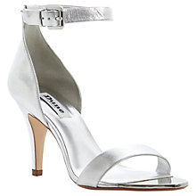 Buy Dune Hunnie Ankle Strap Two Part Leather Stiletto Court Shoe Online at johnlewis.com