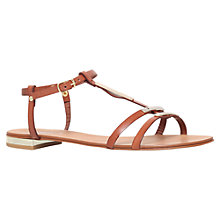 Buy Carvela Kinetic Leather Metal Trim Sandals, Tan Online at johnlewis.com