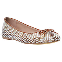 Buy Dune Meanda Ballerina Pumps, Reptile Online at johnlewis.com