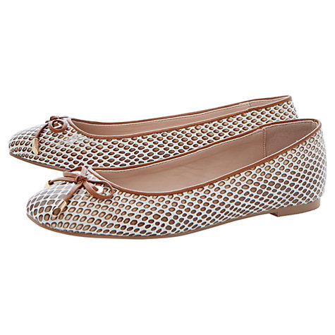 Buy Dune Meanda Fabric Glitter Ballerina Pumps Online at johnlewis.com