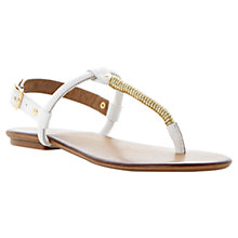 Buy Dune Jamba Gold Twist Throng Buckle Flat Leather Sandals Online at johnlewis.com