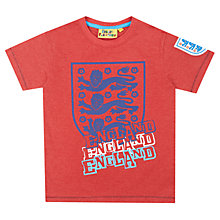 Buy Fabric Flavours England Football Logo T-Shirt, Red Online at johnlewis.com