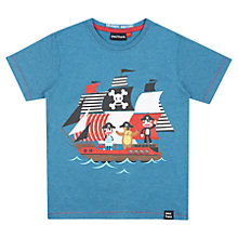 Buy Paul Frank Boys' Pirate Ship T-Shirt, Blue Online at johnlewis.com