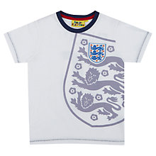 Buy Fabric Flavours Children's England Football Logo T-Shirt, White Online at johnlewis.com