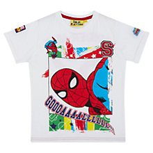 Buy Fabric Flavours Children's Spider-Man World Football T-Shirt, White/Multi Online at johnlewis.com