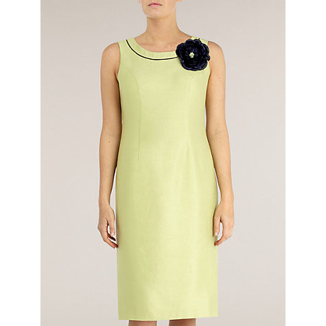 Buy Jacques Vert Contrast Piping Dress, Yellow Online at johnlewis.com
