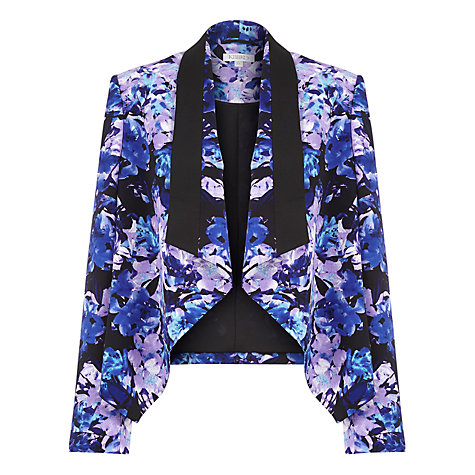 Buy Kaliko Honour Print Waterfall Jacket, Blue Online at johnlewis.com