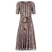 Buy Jacques Vert Lace Branded Dress, Brown Online at johnlewis.com