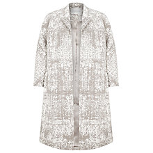 Buy Windsmoor Jacquard Coat, Biscuit Online at johnlewis.com