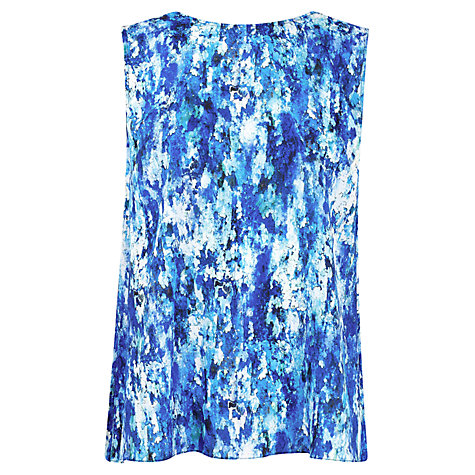 Buy Kaliko Inez Print Split Back Top, Blue Online at johnlewis.com