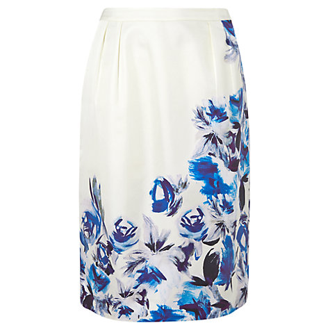 Buy L.K. Bennett Madina Skirt, Print Blue Cream Online at johnlewis.com