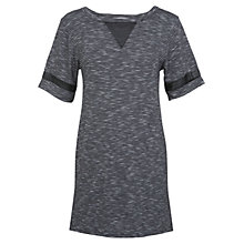 Buy Miss Selfridge Stripe Textured Insert Tunic, Grey/Black Online at johnlewis.com