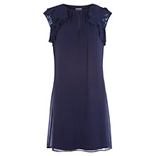 Buy Kaliko Silk Sequin Sleeve Tunic Dress, Blue Online at johnlewis.com