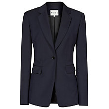 Buy Reiss Fitted Lauren Jacket, Indigo Online at johnlewis.com