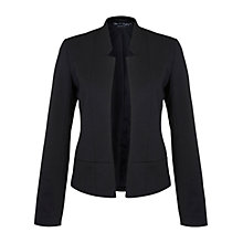 Buy Miss Selfridge Notch Detail Ponte Jacket, Black Online at johnlewis.com
