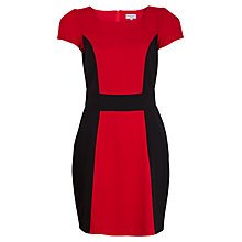 Buy Whistle & Wolf Contrast Panel Dress, Red/Black Online at johnlewis.com