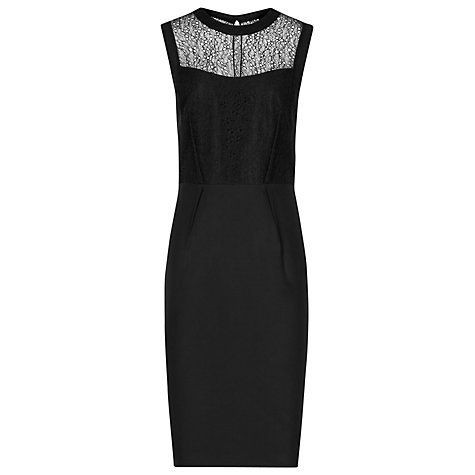 Buy Reiss Casablanca Lace Dress, Black Online at johnlewis.com