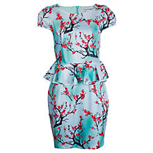 Buy Whistle & Wolf Blossom Peplum Dress, Blue Print Online at johnlewis.com