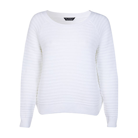 Buy Miss Selfridge Ottoman Rib Jumper, White Online at johnlewis.com