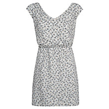 Buy Mango Floral Print Dress, Light Pastel Grey Online at johnlewis.com