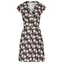 Buy Reiss Floral Crawford Dress, Black/White Online at johnlewis.com