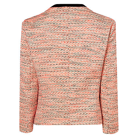 Buy L.K. Bennett Jacquard Madrid Jacket, Orange Online at johnlewis.com