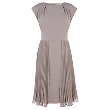 Buy Kaliko Pleat Skirt Dress, Grey Online at johnlewis.com