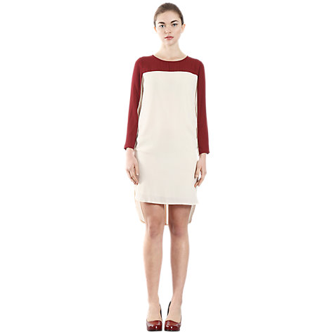 Buy Paisie Two Tone Long Sleeve Dress, Cream Online at johnlewis.com