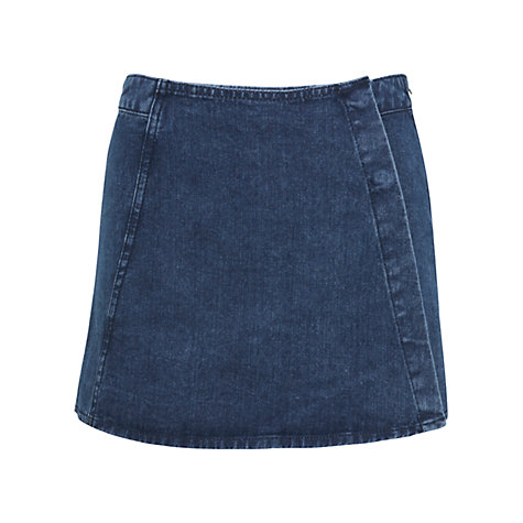Buy Miss Selfridge Denim Skort, Mid Wash Denim Online at johnlewis.com