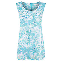 Buy Kaliko Marina Floral Print Split Blouse, Blue Online at johnlewis.com
