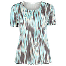 Buy Windsmoor Printed Crinkle Top, Brown Online at johnlewis.com