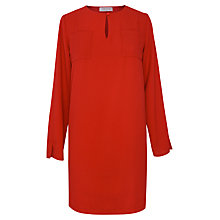 Buy Paisie Long Sleeve Pocket Dress, Red Online at johnlewis.com