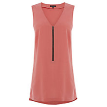 Buy Warehouse Zip Front Longline Tunic Online at johnlewis.com
