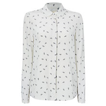 Buy Boutique by Jaeger Anchor Print Scalloped Collar Blouse, Ivory Online at johnlewis.com