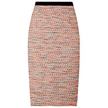 Buy L.K. Bennett Jacquard Madrid Skirt, Orange Print Online at johnlewis.com
